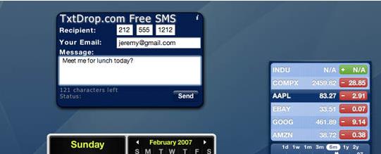 mac sms widget